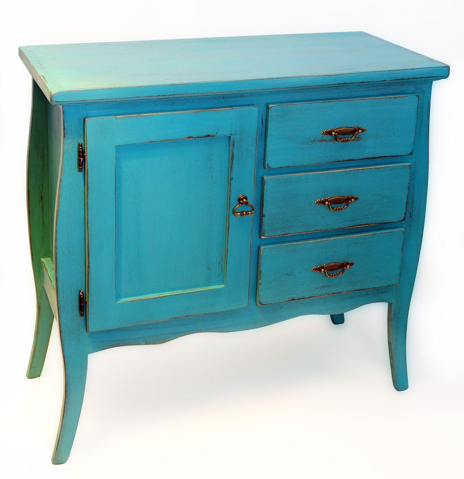 Comoda vintage impecable mueble estilo vintage patinado - Colores vintage para muebles ...