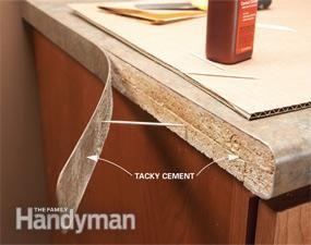 Laminate Repair Tips Reglue Loose Laminate With Images Kitchen Repairs Repair Laminate