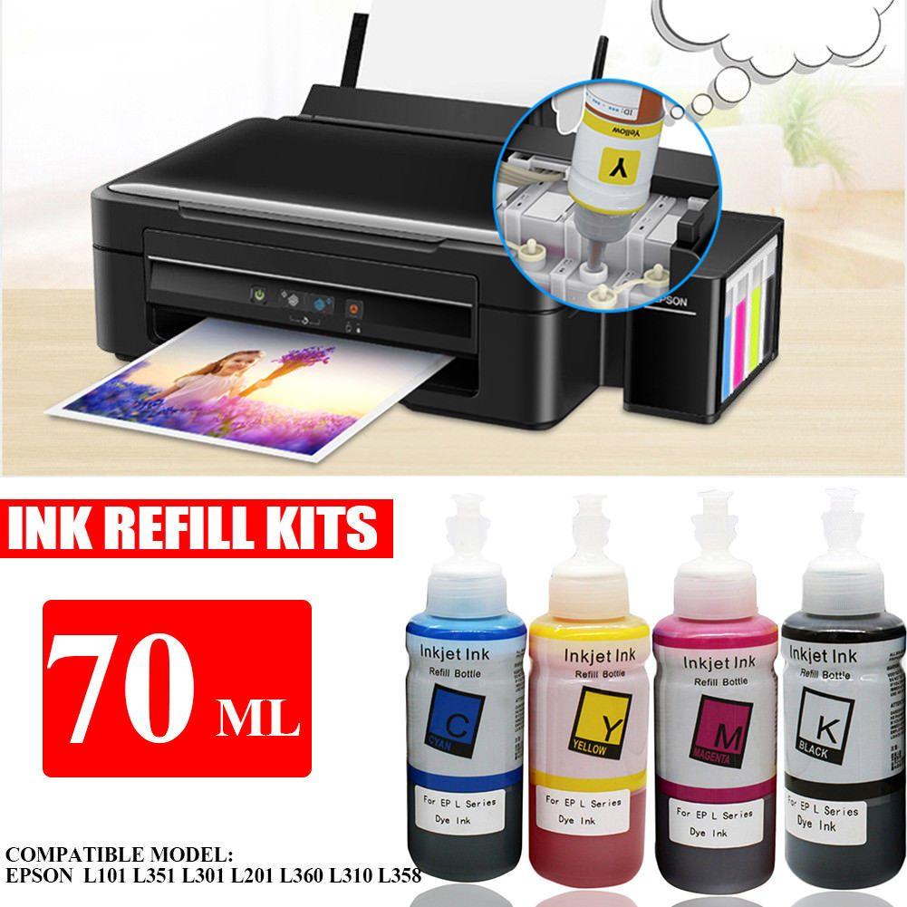 Epson kitchen printer  ml Ink Refill Kits For Epson L L L L L L L
