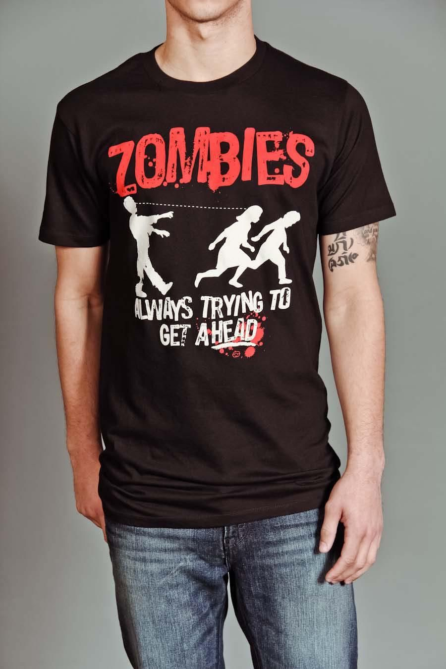 Goodie Two Sleeves Zombies Always Trying T Shirt Zombie T Shirt T Shirts With Sayings Goodie Two Sleeves