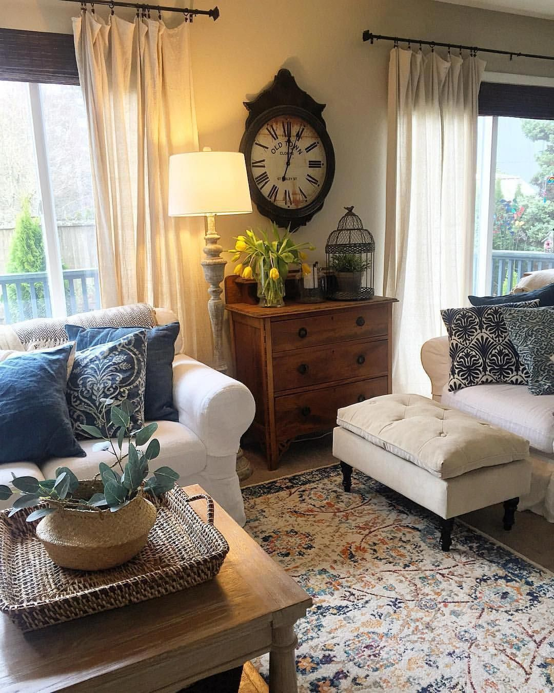 royal blue home decor living room #Homedecorlivingroom  French