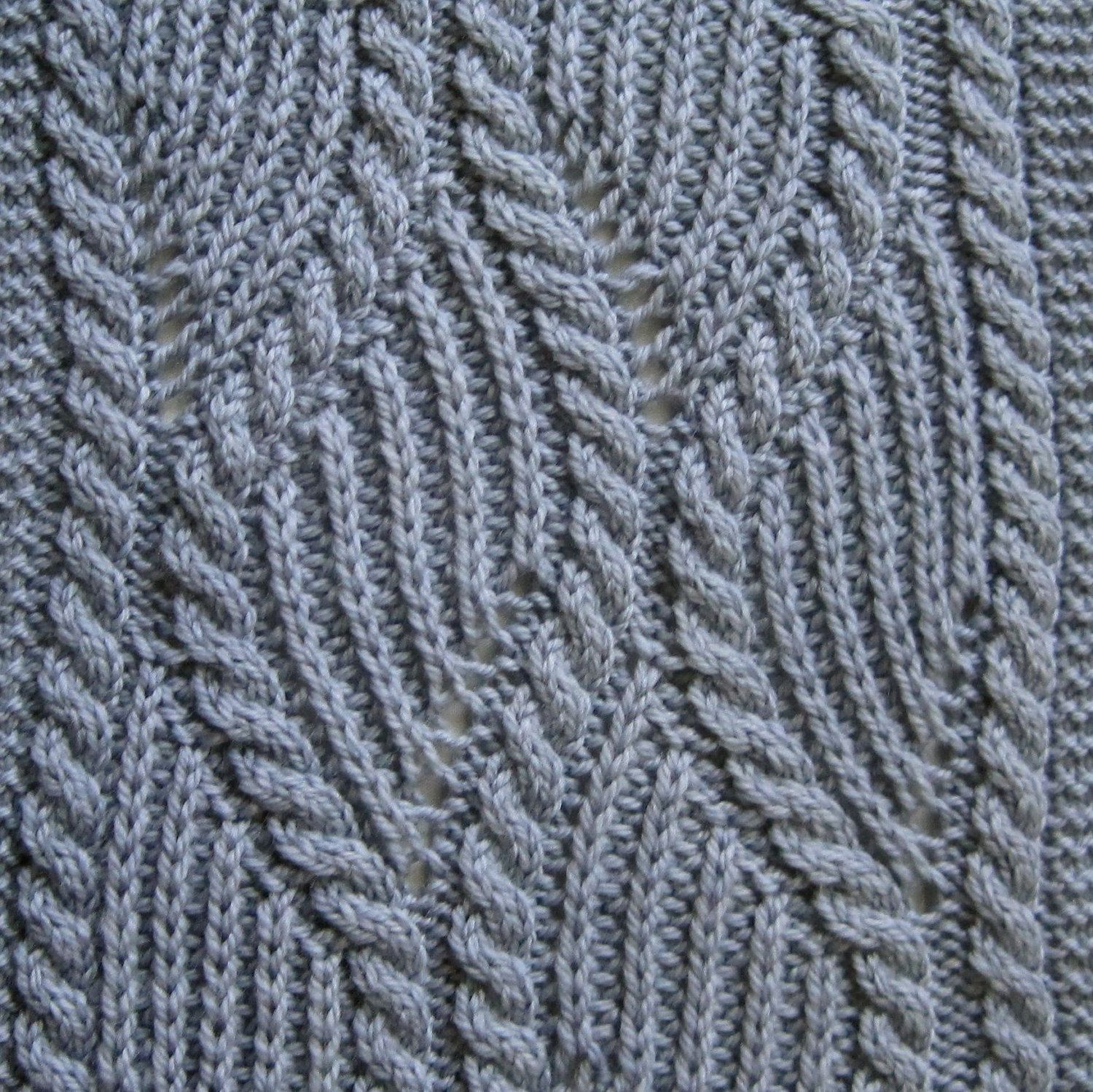 Knit Scarf Pattern: Brioche and Traveling Cable Knitting Scarf ...