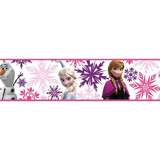 Der Letzte Schliff Im Kinderzimmer Fur Kleine Eiskoniginnen Ist Die Susse Wandbordure Im Pinken Frozen Design Dadurch Dass Tapeten Borduren Tapeten Wandbordure
