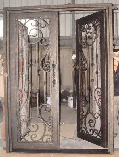 High Quality Exterior Doors Jefferson Door: High Quality With Steel Door For LM-009 Iron Doors Glass