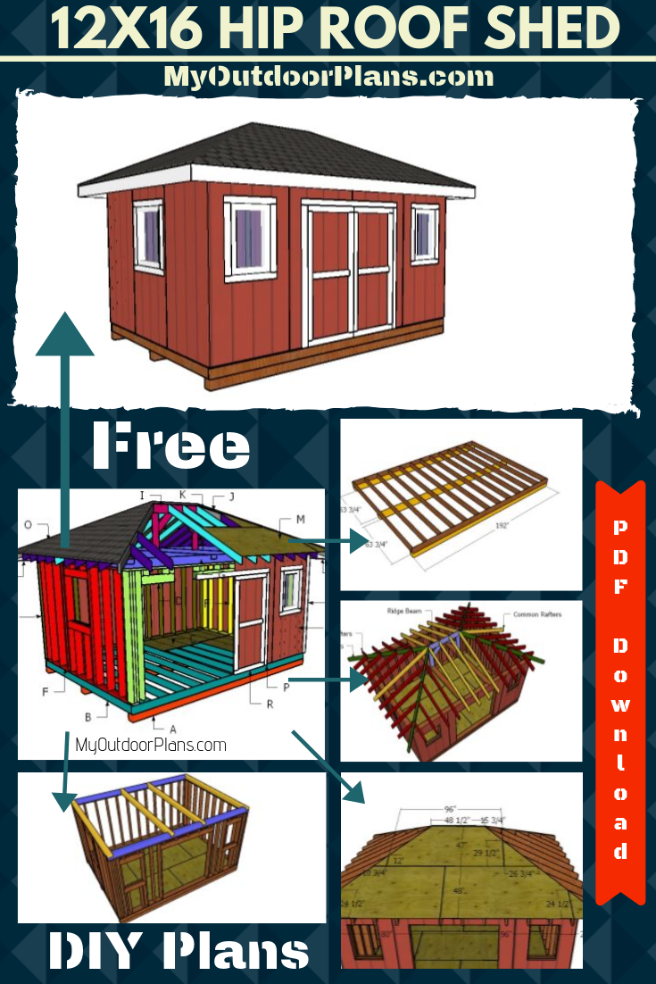 12x16 Shed With Hip Roof Plans Shed Roof Plan Hip Roof