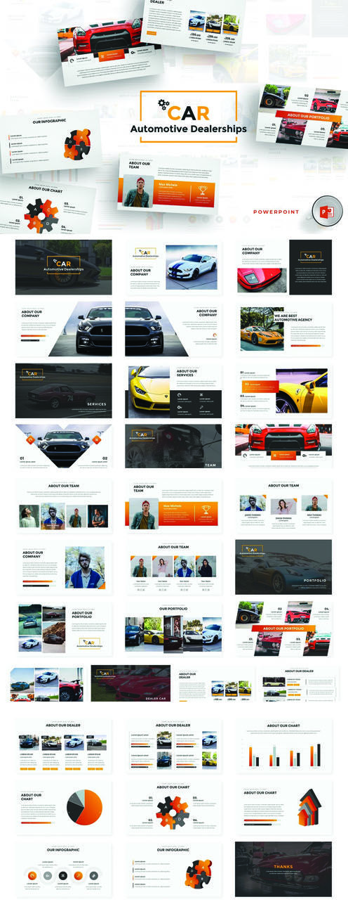 40 Trends For Free Powerpoint Templates For Automobile Industry Summer Background