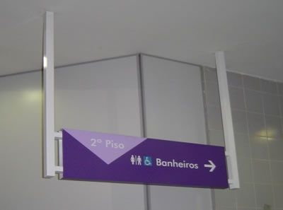 Resultado de imagem para placas de sinalização em shopping