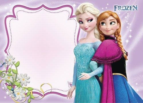 This is a picture of Frozen Invites Printable for frozen elsa