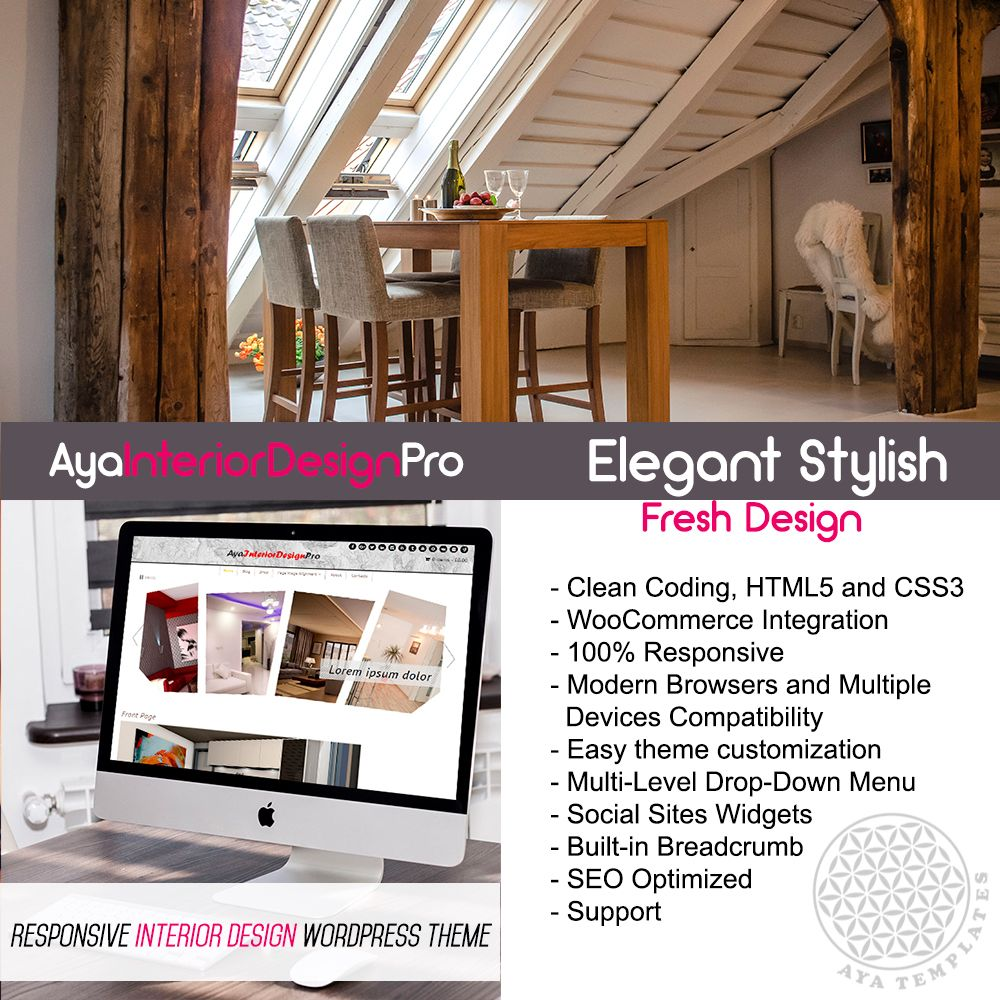 AyaInteriorDesignPro – Responsive Interior Design WordPress Theme ...