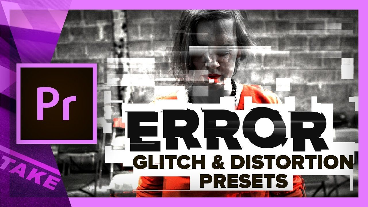 free text glitch effect premiere pro