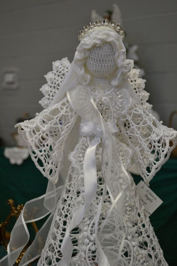 Beautiful Angel with expert craftsmanship. This angel was sold on Etsy by Angels and Treasures. Many more items of the same quality in her shop. Must see.