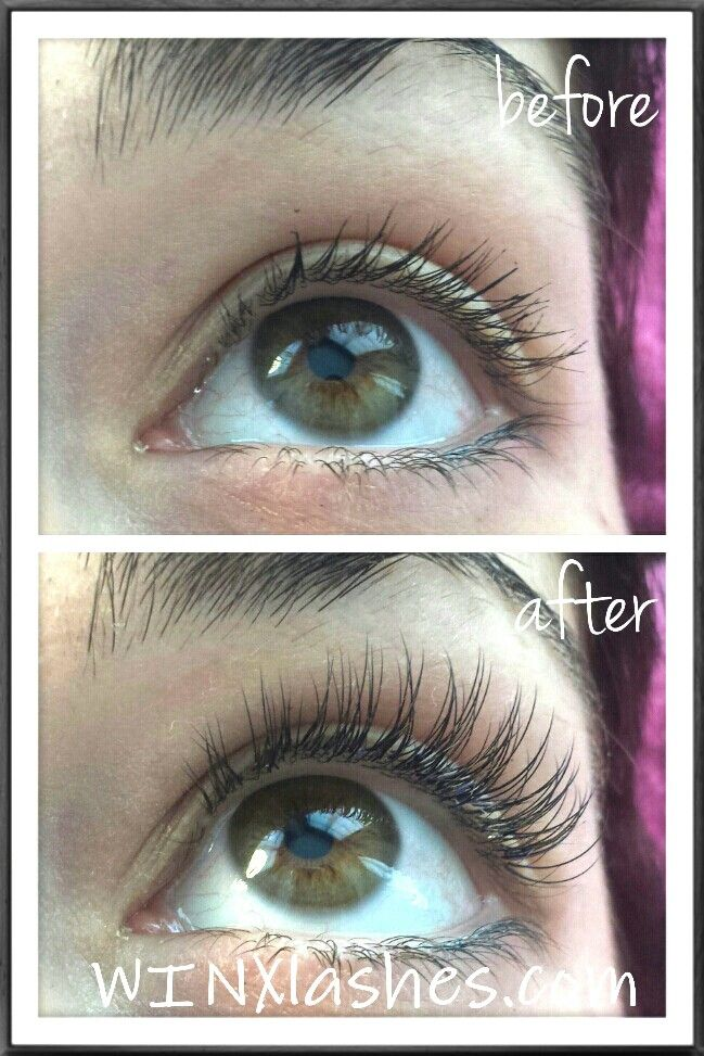 Before And After Eyelash Extensions From Winx Lash And Makeup