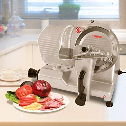 Kitchen Food Slicer Island And Table Tangkula Electric 9 Commercial Meat Machine For Home Restaurant Heavy Duty Chrome Plated Stainless Professional Semi Auto