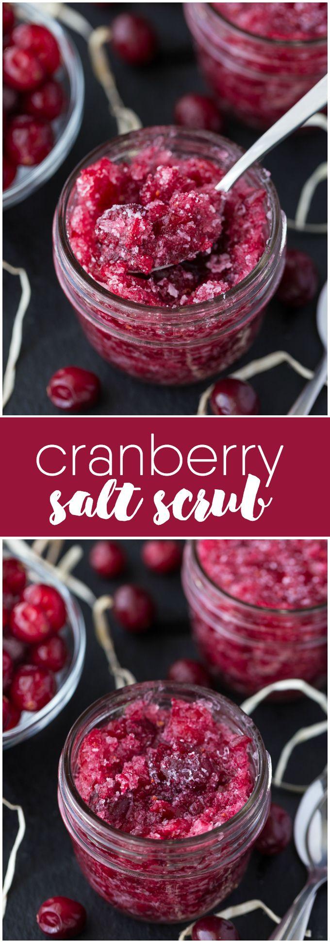Cranberry Salt Scrub #diybeauty