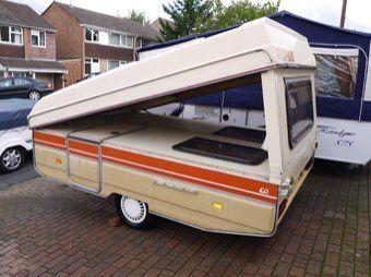 1986 Rapido Orline Folding Camper Caravan 2 Person Pop Up Tent