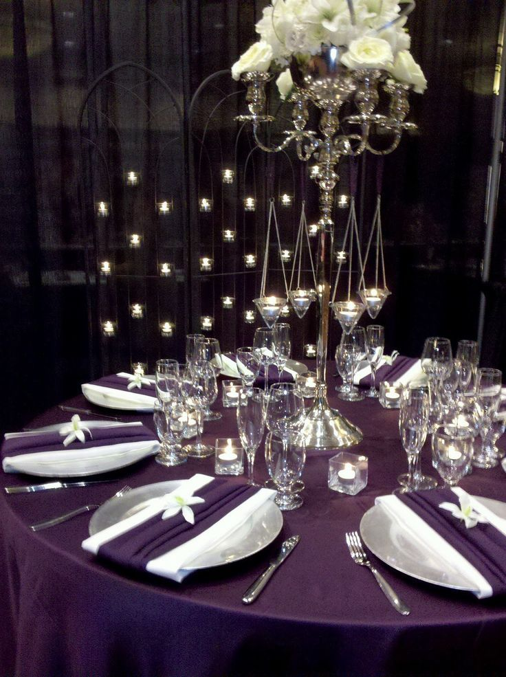 Eggplant And Silver Wedding Purple Colors Bing Images