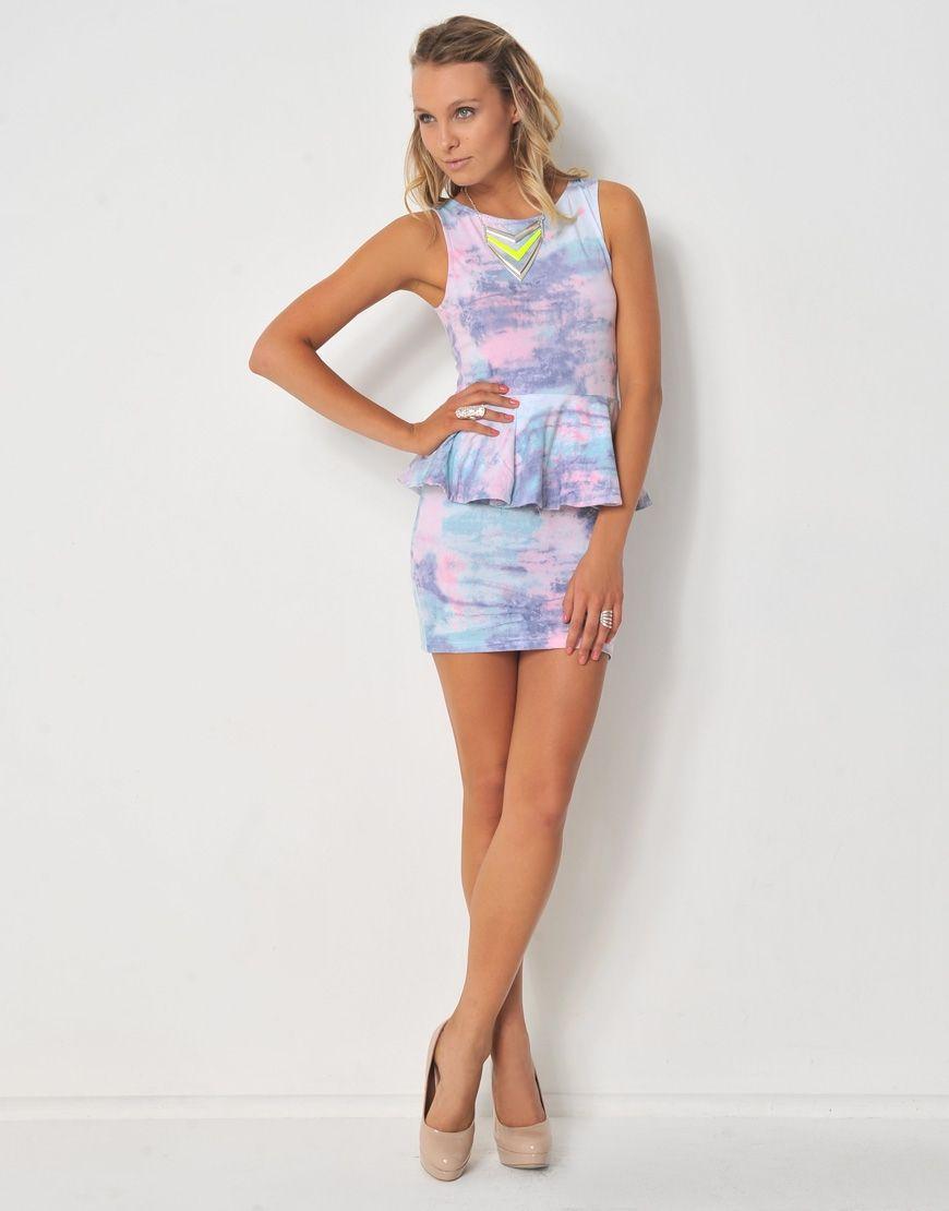 4268024ae0 6373346PR PRIPPLE  Printed Peplum Dress