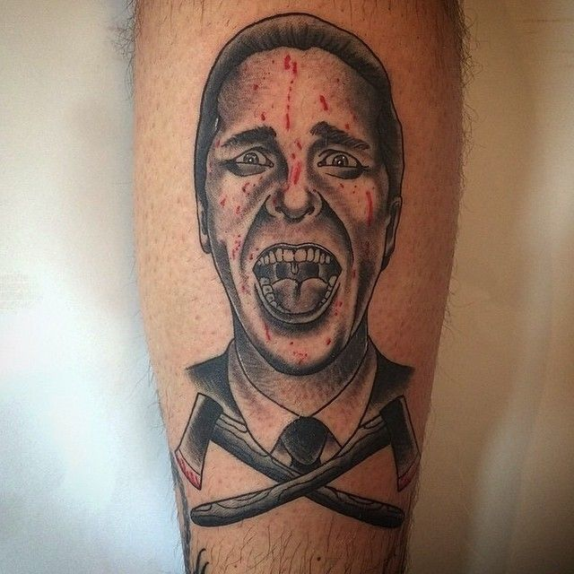 Portret Tattoo Patrick Bateman American Psycho Tattoo