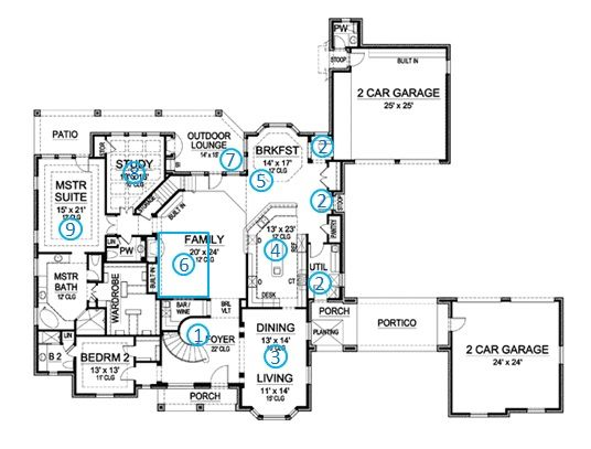 european manor house plan review ground floor | Anderson ...