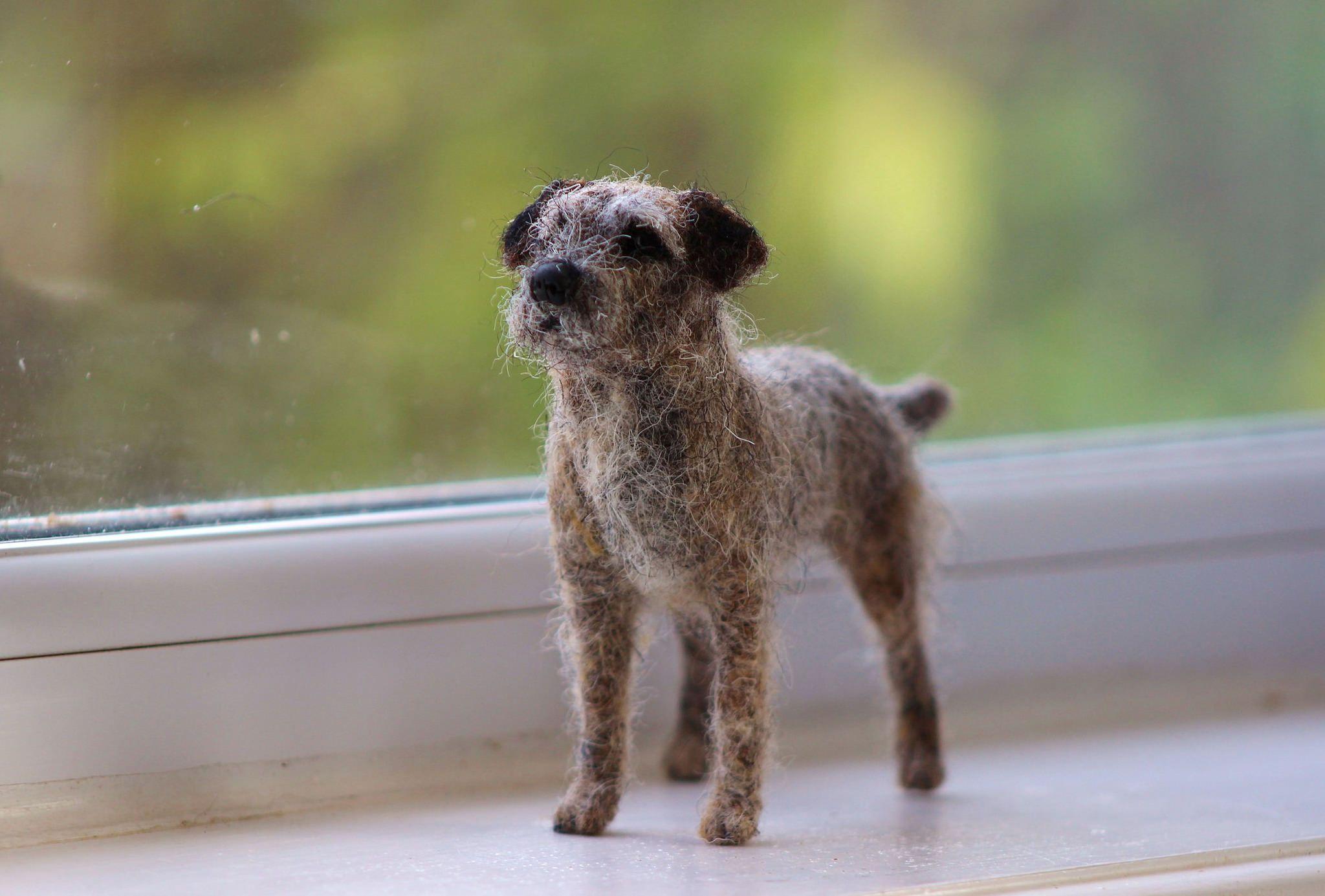 Border Terrier 1 035 Felt Animals Felt Dogs Needle Felted Animals