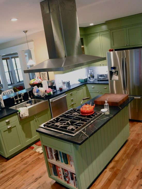 Sage Green Kitchen Cabinets Design, Pictures, Remodel, Decor and ...
