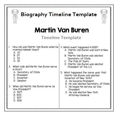 4 biography timeline templates free printable pdf excel word