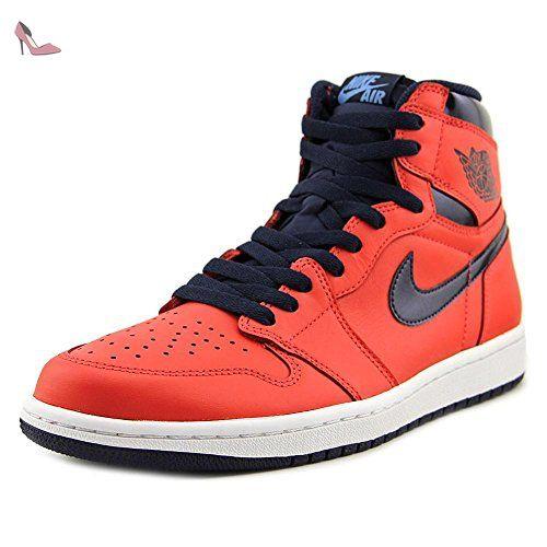 online store 3abf0 3cf76 Nike Air Jordan 1 Retro High OG, Chaussures spécial basket-ball pour homme  rouge