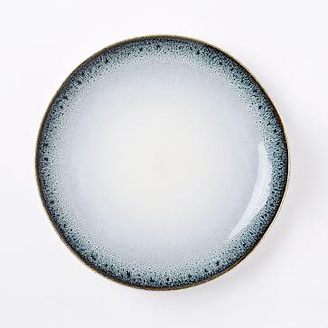 Reactive Glaze Dinner Plates (Set of 4) - Black/White & west elm Reactive Glaze Dinner Plates (Set of 4) - Black/White ...