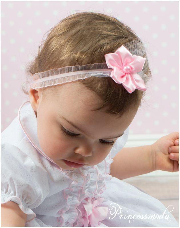 92f7769b93d31 (ST-50) Zartes Stirnband in Rosa! - Princessmoda - Alles für Taufe Kommunion  und festliche Anlässe