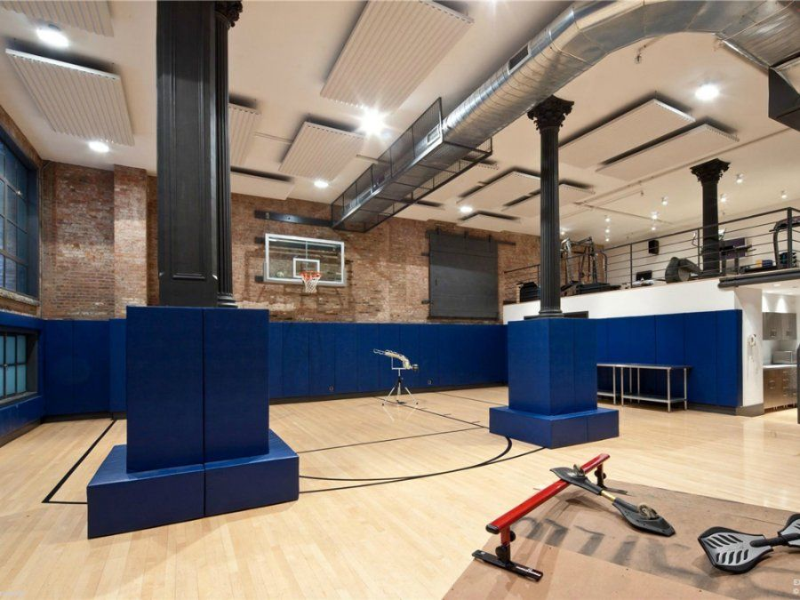 Indoor Basketball Court Sweet Luxury Loft Nyc Penthouse Tribeca Loft