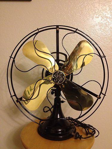 Antique Ge General Electric Fan Brass Bell Ebay I