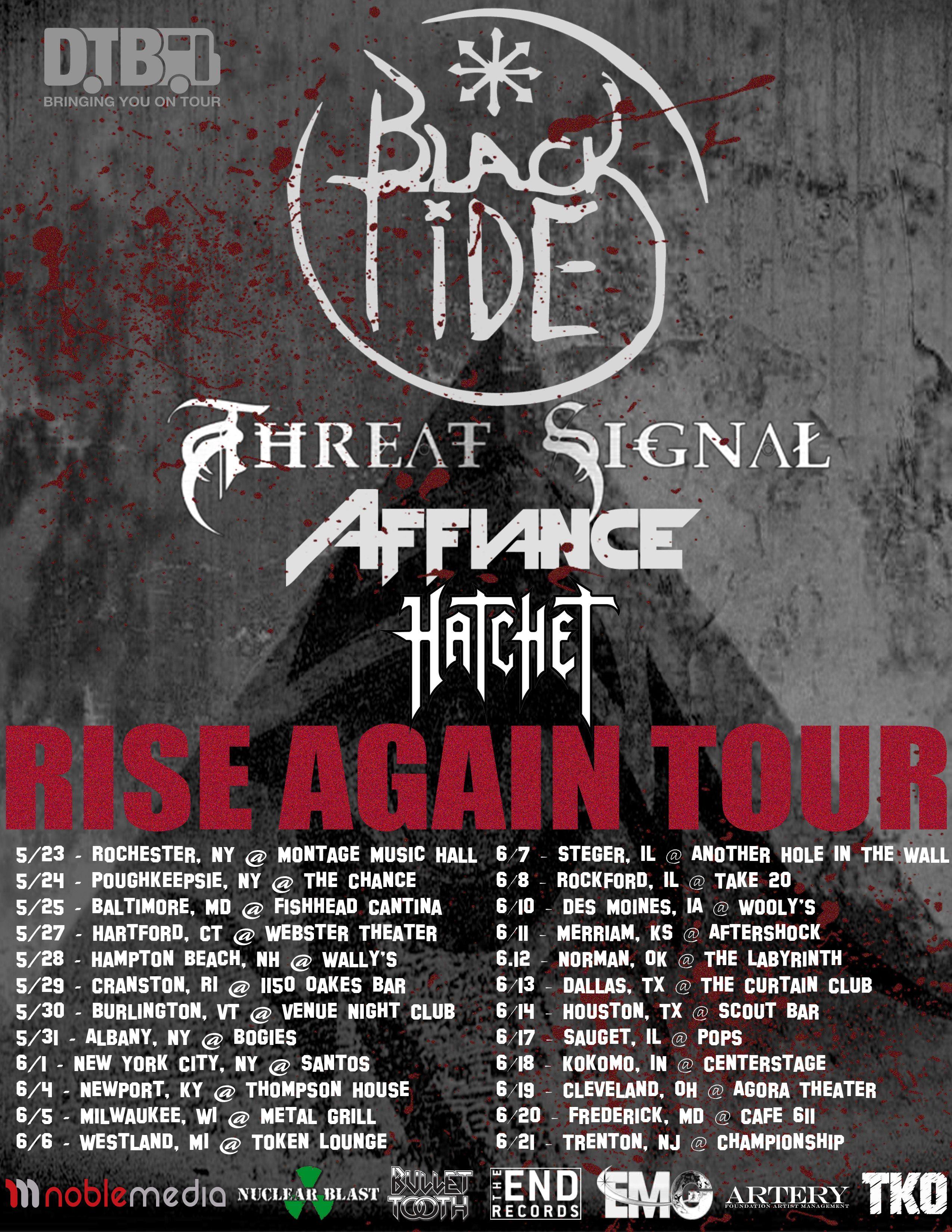 Black Tide Announces The Rise Again Tour Dtb Sponsored Tour Digital Tour Bus Tours Tour Posters Tide