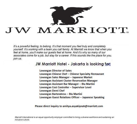 Lowongan Kerja Hotel Jw Marriott Jakarta Terbaru Hotel Marriott How Are You Feeling