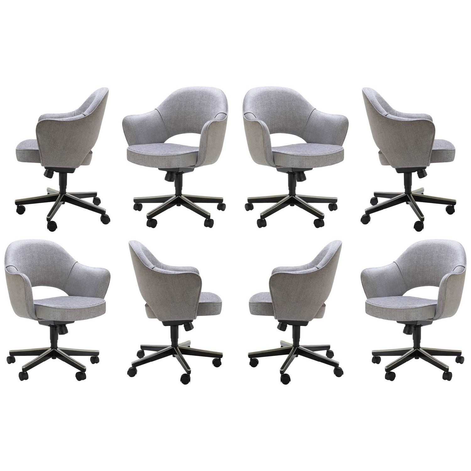 Surprising Set Of Eight Knoll Office Chairs Desk Chairs Saarinen Ibusinesslaw Wood Chair Design Ideas Ibusinesslaworg
