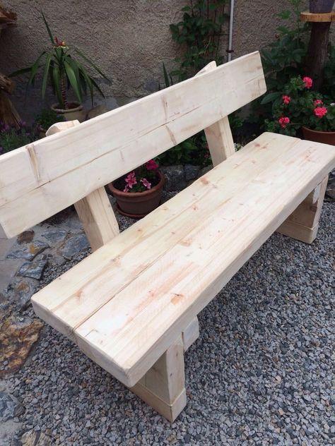 Gartenbank Massiv Holzbank Holzbank Garten Bambus