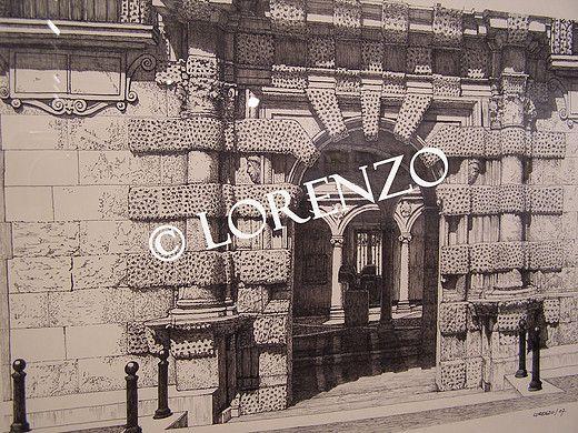 Almansa Fachada De La Casa Grande Dibujo A Plumilla Sobre Papel Casas Grandes Dibujo A Pluma Plumas