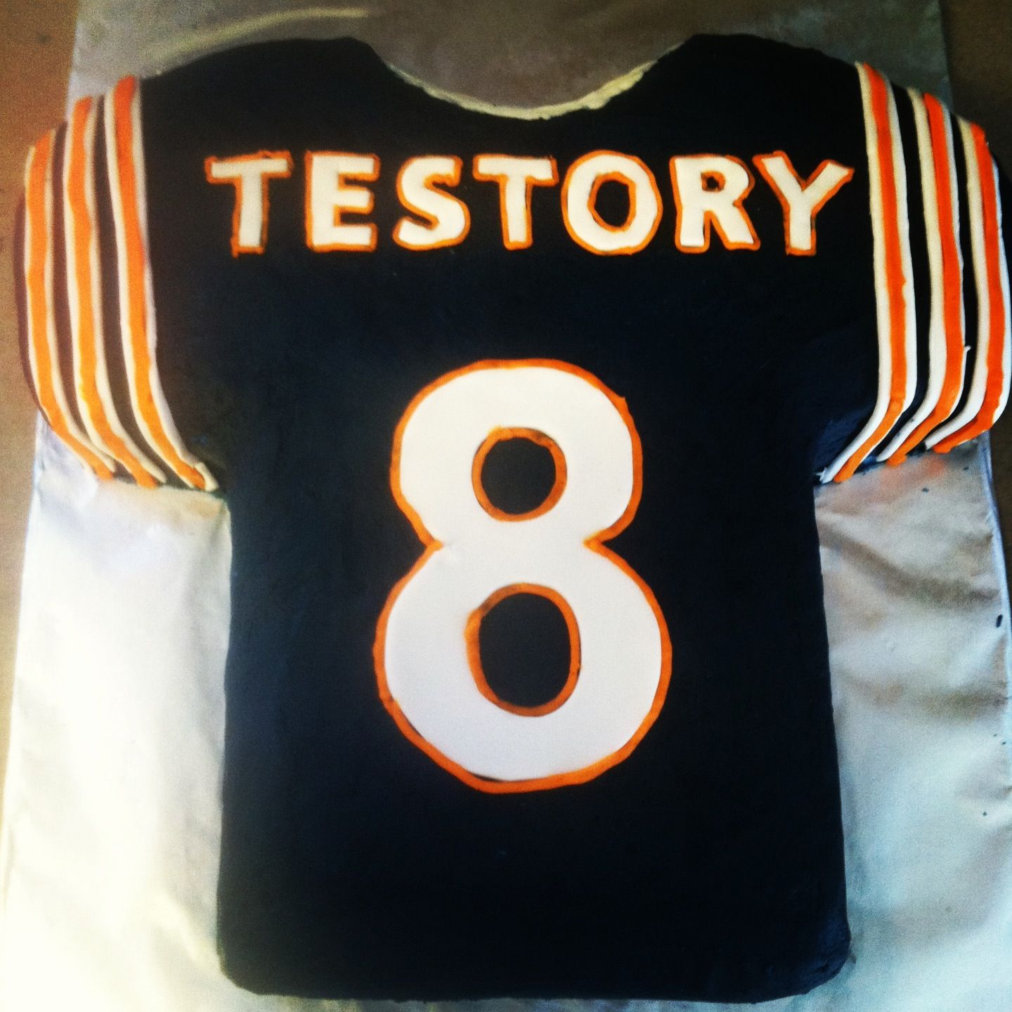the latest 60bd0 9f16d Chicago bears jersey cake | My own cakes | Football birthday ...