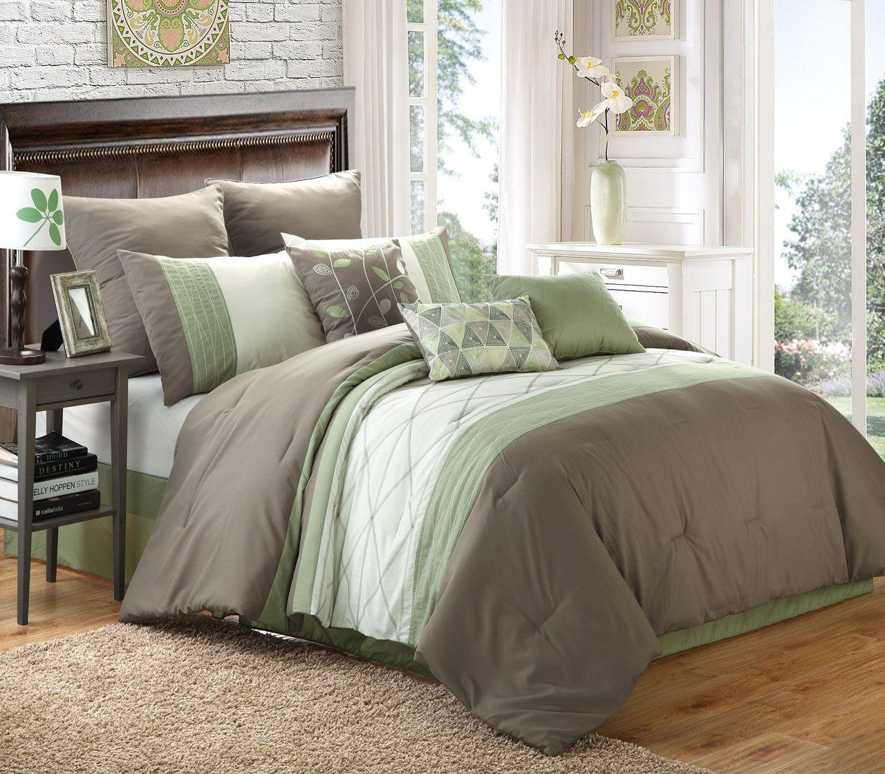 Sage Bedding Set Buethe Org Sage Green Bedroom White Comforter Comforter Sets