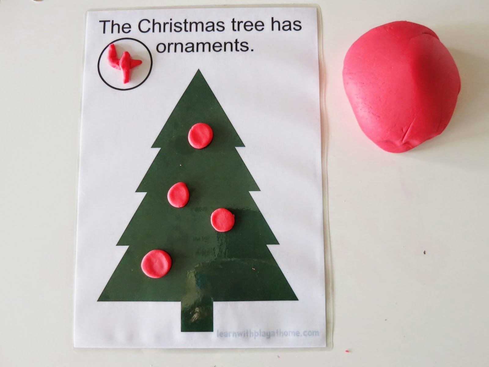 Christmas Tree Play Mat Free Printable