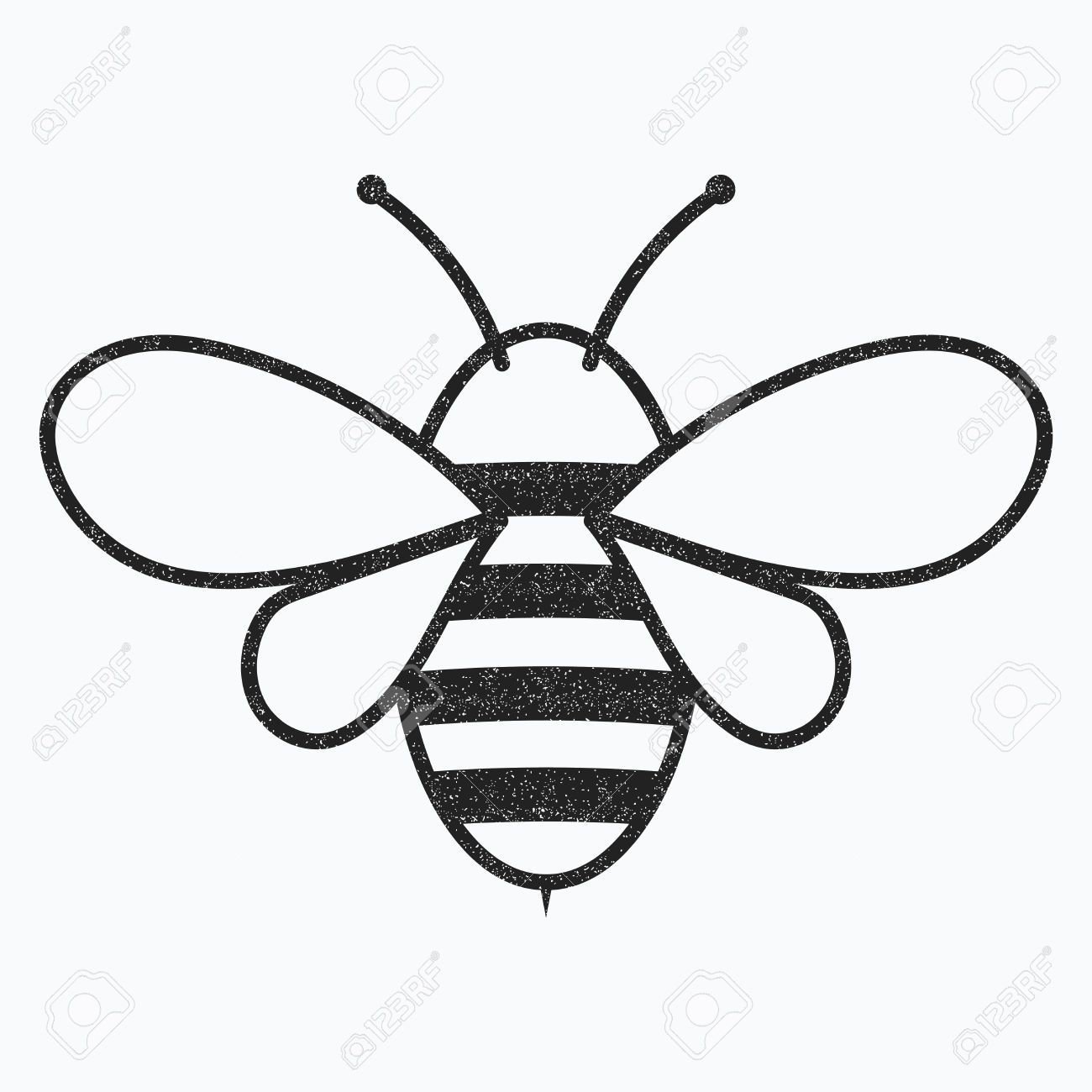 Logo Of The Bee Black And White Bee Icon Vector Illustration Black And White Bee Bee Icon Bee Pictures