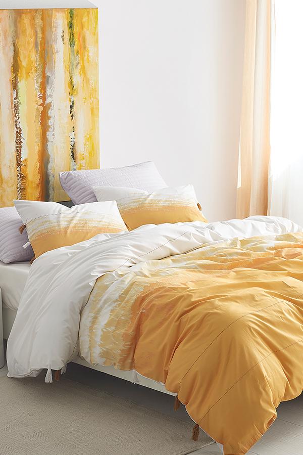 Photo of Ombre Sunset Twin XL Duvet Cover – Ochre