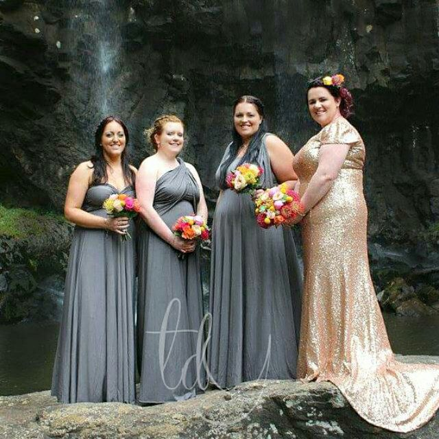 b1116968ca1 More than just a Bridesmaid dress by thedaintyard on Etsy. Bridesmaids  wearing TDY infinity dress in Slate.