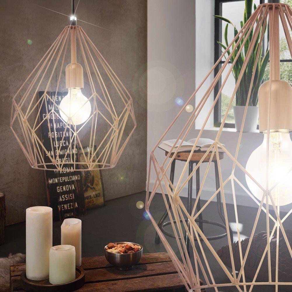 Retro Pendel Leuchte Hänge Lampe Esszimmer Kupferfarben Beleuchtung Eglo  49258: Amazon.de: Beleuchtung