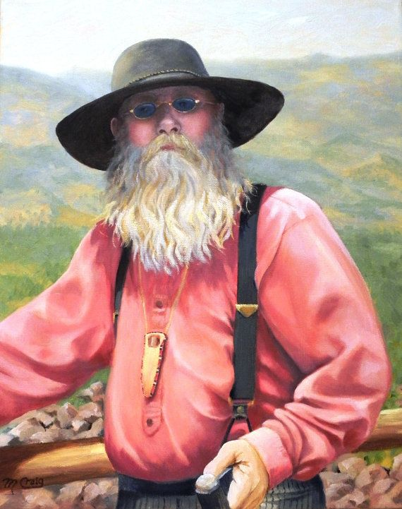 Old Mountain Man by mcraigart on Etsy 7fbd8242069f