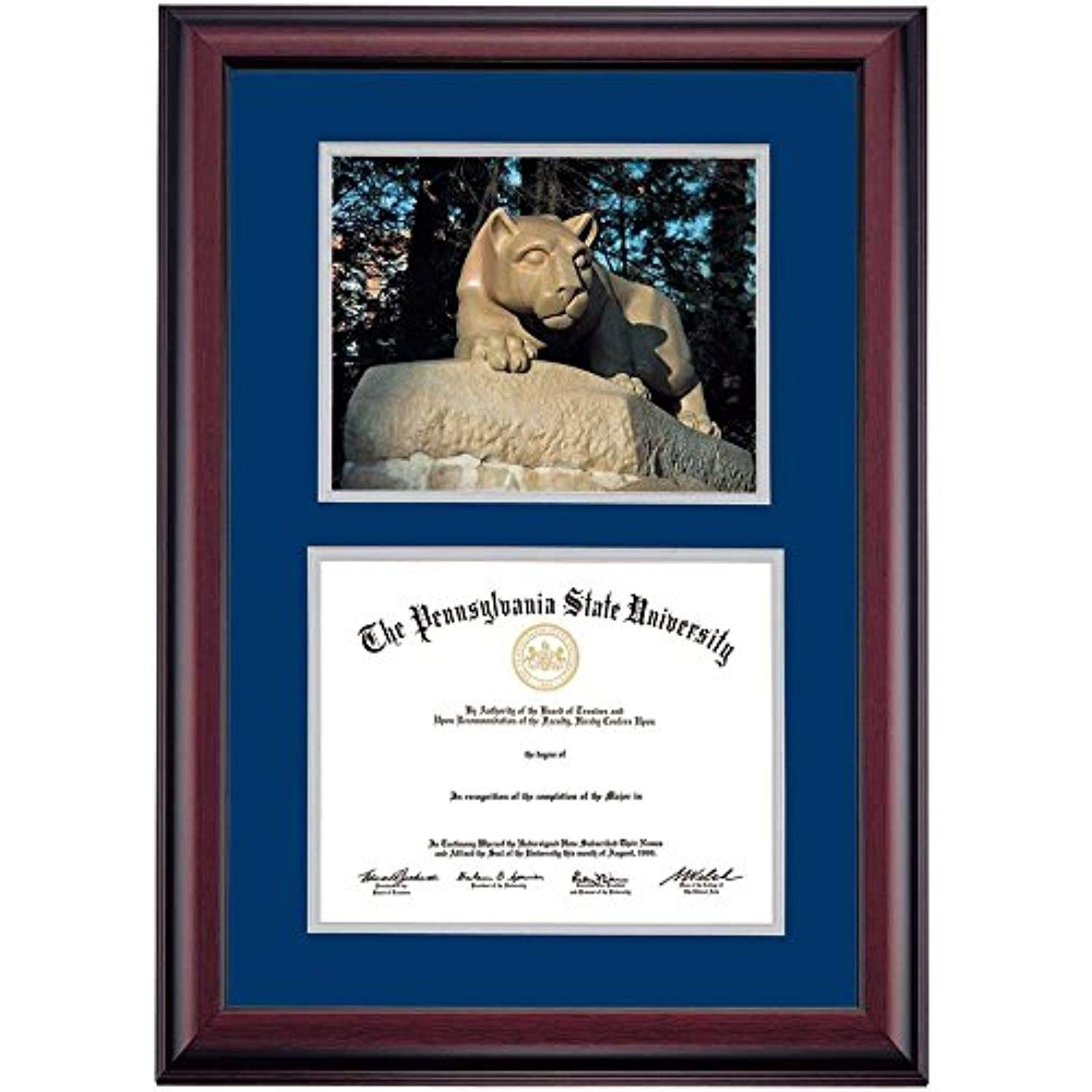 Campus Linens Penn State Nittany Lions Diploma Frame Navy