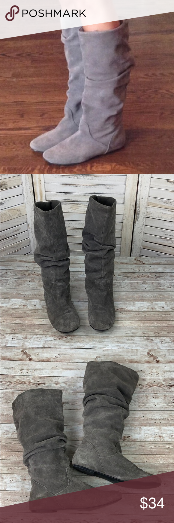 Separar Adjunto archivo compromiso  STEVE MADDEN | Tianna Suede Slouch Boots | Slouched boots, Boots, Steve  madden shoes