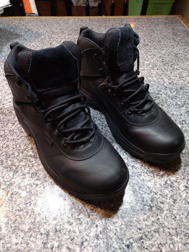 e5315a6acf9 Timberland White Ledge Mid Waterproof Black Boots Size 13 #fashion ...