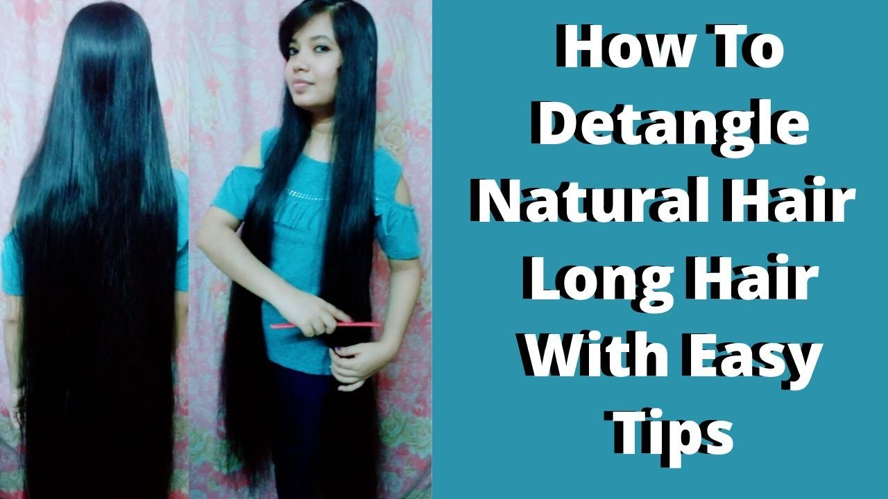 Diy How To Detangle Natural Hair Long Hair With Easy Tips Hindi Tutorial Hair And Beauty In 2020 Detangling Natural Hair Long Hair Styles Hair Detangler