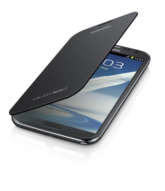Amazon com: Samsung Galaxy Note 2 Flip Cover Case (Titanium