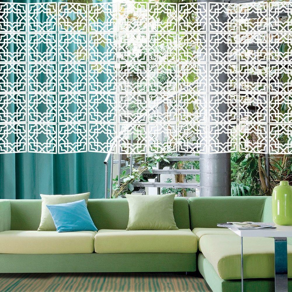 Rainqueen 12Pcs 29x29cm Hanging Screens Living Room